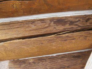 checks in exterior logs