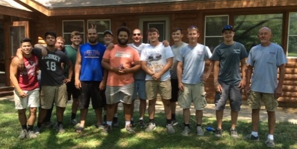 Log Home Restoration Specialist crew that worked on Olson home