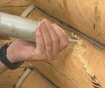 caulking exterior log
