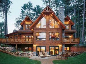 Modern style log home
