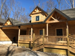Traditional style log home